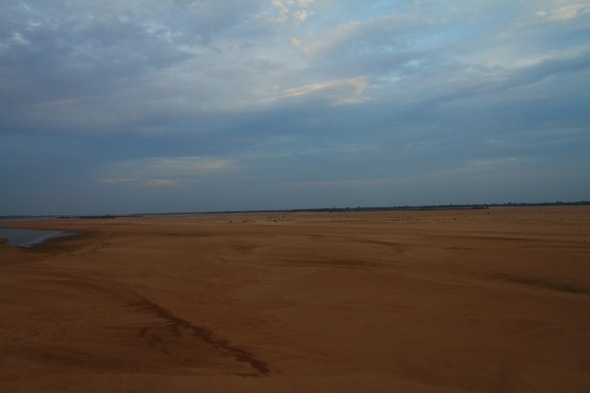 Dry Mahanadi River Bed
