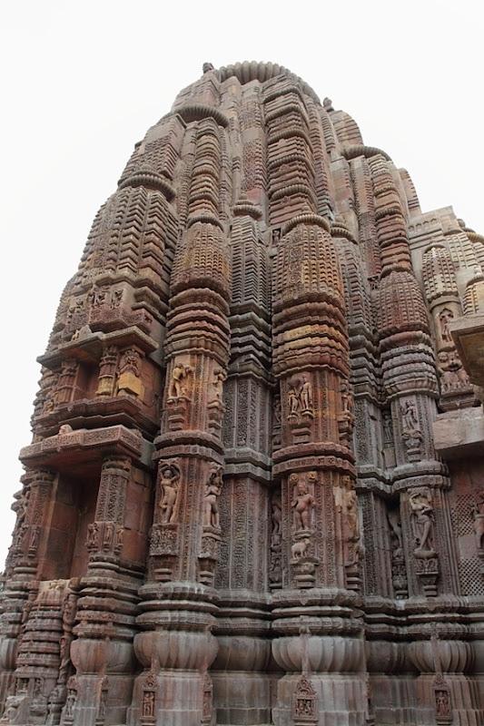 Intricate carvings at Rajarani Temple