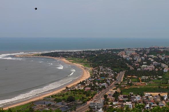 Vishakhapatnam's Beach Line, Marine Drive and Cityscape View