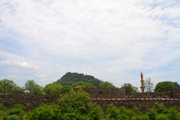 Green Daulatabad Fort at Aurangabad, Maharashtra