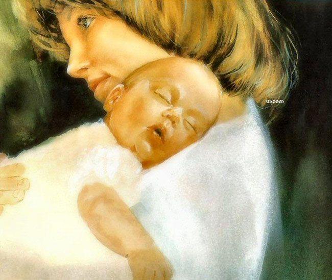 รูปภาพ ภาพแม่ลูกผูกพัน สุดซึ้ง