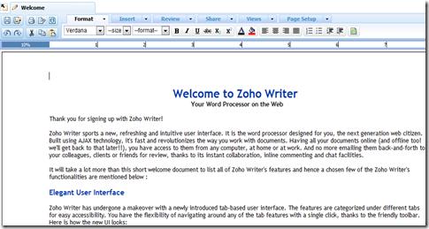 Zoho Writer 2.0