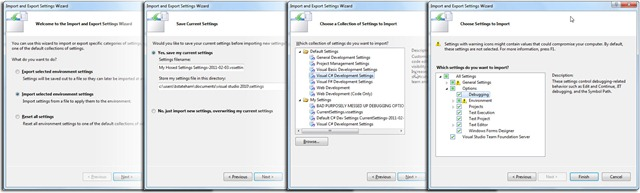 Reset Visual Studio Settings Landscape