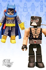Mini-Mates Batgirl and Bane