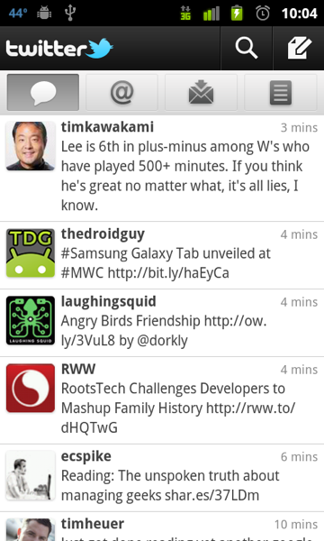 New Twitter, sans dashboard