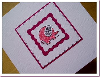 stamped elephanr card