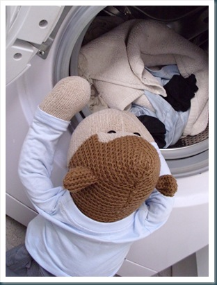 Monkey Doing the Washing 2