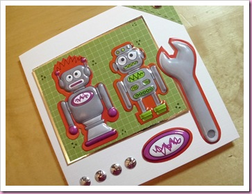 Two Red Robots Card
