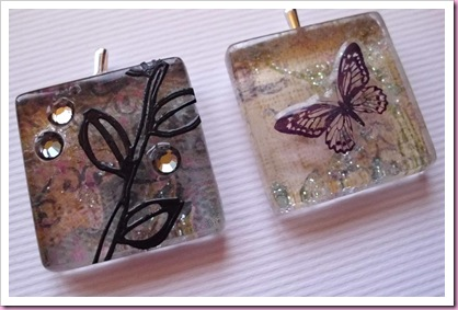 Glass tile pendants
