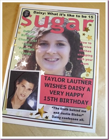Magazine Cover Birthday Card