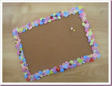 Button Covered Noticeboard