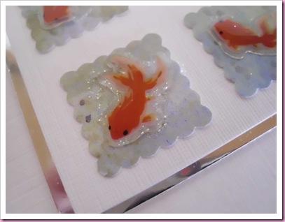 Close Up of Goldfish card