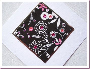 Flower and gem Card