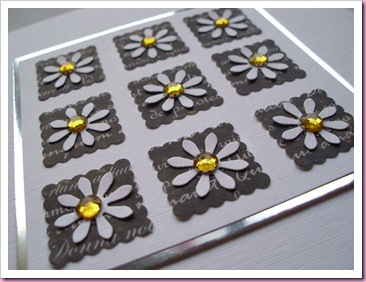 Daisy card side view