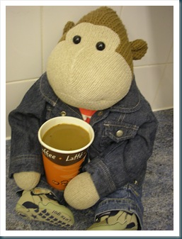 Mums Monkey with a Coffee
