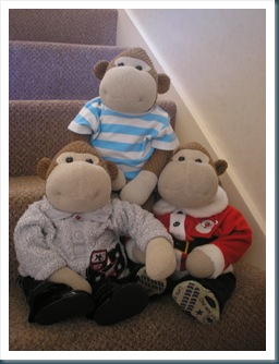 Monkeys on the stairs