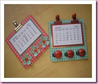 Lucy and Laura's calendars