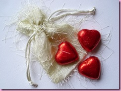 HobbyCrafts Sale Item with heart shaped chocolates