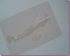 Spitfire used in Wedding Anniversary card