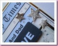 Star Detail on Golden Anniversary card
