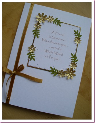 White and Gold Flower Card