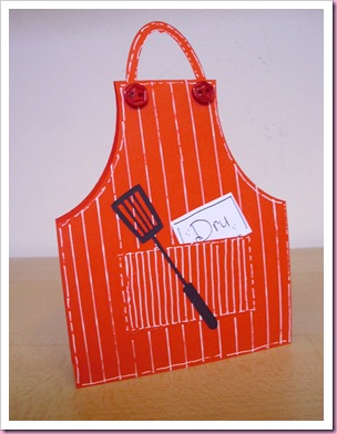 Cookery Apron Place Card (a)