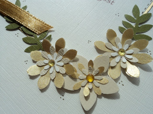 Golden Wedding Anniversary Card 1 I 39ve used a variety of punches for the