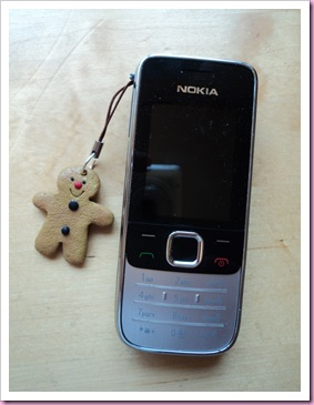 Gingerbreadman Phone Charm