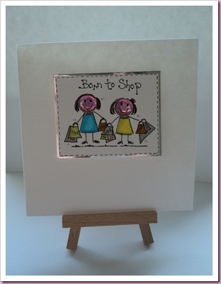 Born To Shop card 1