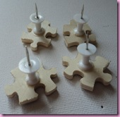 Push pin backs