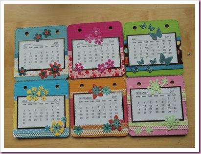 Coaster calendar 1