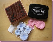 Black StazOn & Stampin Up Stamp