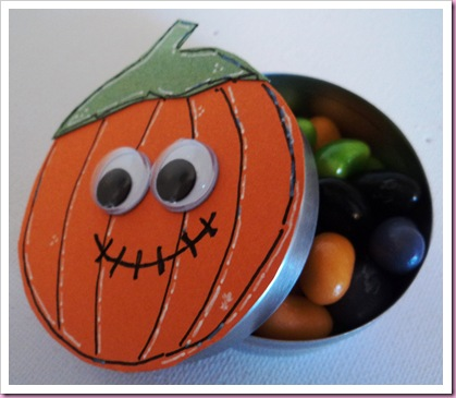 Halloween Pumpkin Favaor Tin