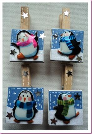 Anita's 3D laser stickers. penguin design