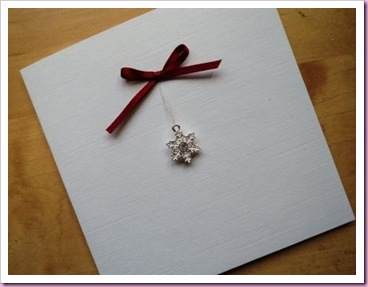 Simple snowflake Christmas card
