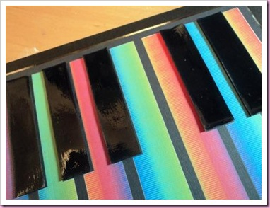 Rainbow Keyboard Card 1