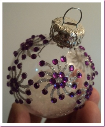 Decorated Clear Glass Bauble
