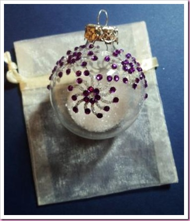 decorated Bauble in Organza bag