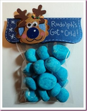 Rudolph's Got A Cold Blue Sweetie Candy Noses