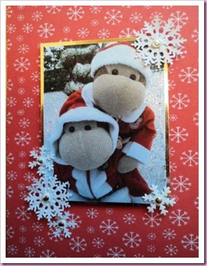 Close Up of Monkey Christmas Card