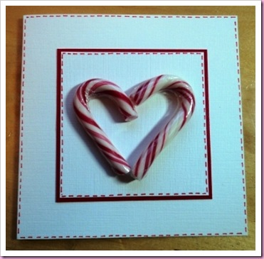 Candy Cane Valentine Card