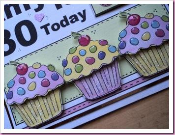 Cupcake Newspaper Card