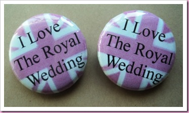 I Love The Royal Wedding badges