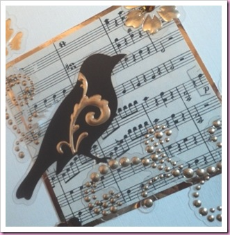 Bird with Music card a