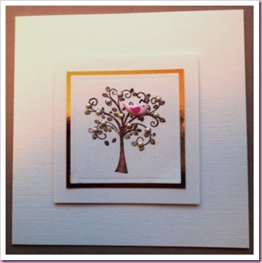 A Little Bird In A Tree Card a