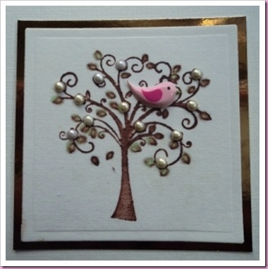 Little Bird In Tree Card 1