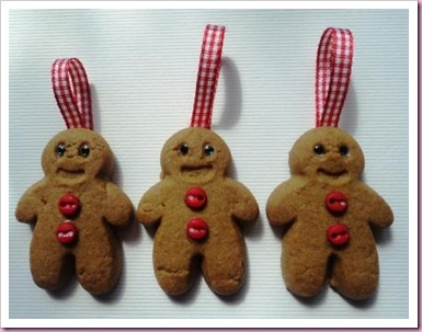 Gingerbread Men Tree Decorations