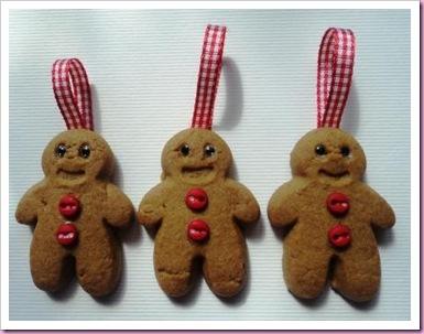 Gingerbread Men Tree Decorations