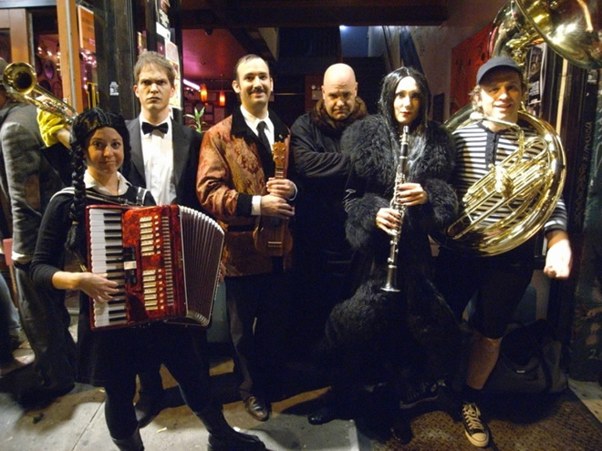 The Adams Family Band Prepares for a Concert