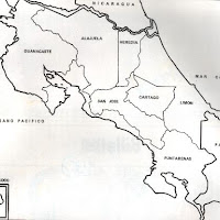 Mapa de Costa Rica.